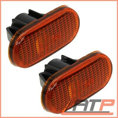 2X Indicator Turn Signal Wing Oval Yellow Left+Right Renault Scenic Mk 1 99-03