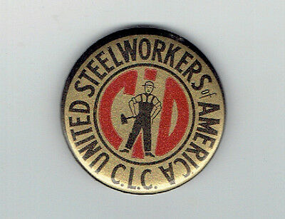 United Steelworkers of America CLC Pinback Button