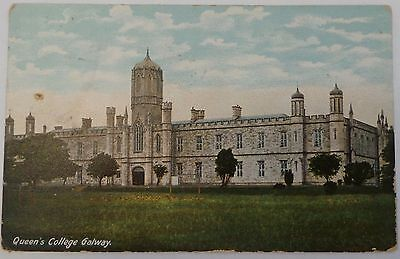 Postcard 1907 - Queen's College, Galway, Ireland - Tinted Card