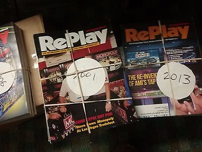 Replaay magazines ,2001,2006,2007,2008,2010,2013 some complete  x
