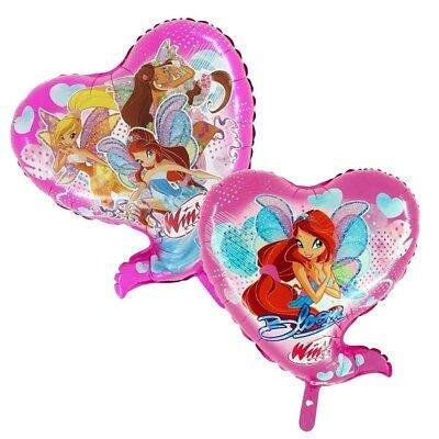Winx Club - Bloomix - Party Kinder Geburtstag Folien Ballon Herz 59x69cm