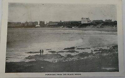 Postcard 1908 - Portrush From The Black Rocks, County Londonderry