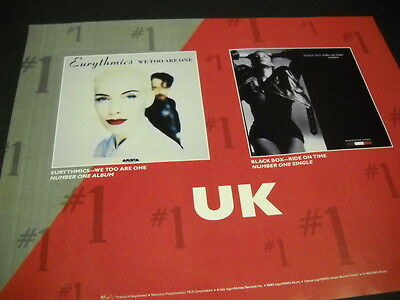 EURYTHMICS and BLACK BOX are Number One In The UK 1989 PROMO POSTER AD mint