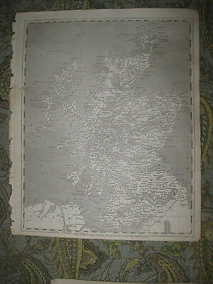Superb Early Antique 1805 Scotland Arrowsmith & Lewis Copperplate Map Shire Rare