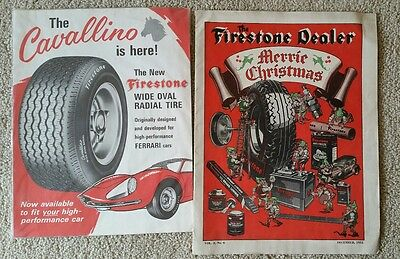 1932 Firestone tires Christmas auto art vintage print ad  Suitable for framing