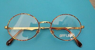 Vintage Off Limits   010 48/20 Shiny Gold With  Tortoishell  Made  In  Italy  .