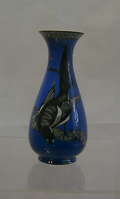 W & R Carlton Ware 'Magpies' vase - Pattern No:  2907