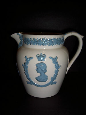 Wedgwood White Queensware Coronation Water Jug in excellent condition..