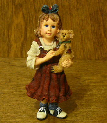 Boyds Resin Ornament(s) #25861 Samantha with Connor... Best Friends, NIB 3.5""