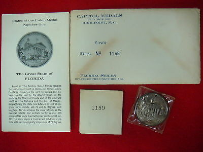 Florida, State of the Union Medal, original envelope  (Silver)