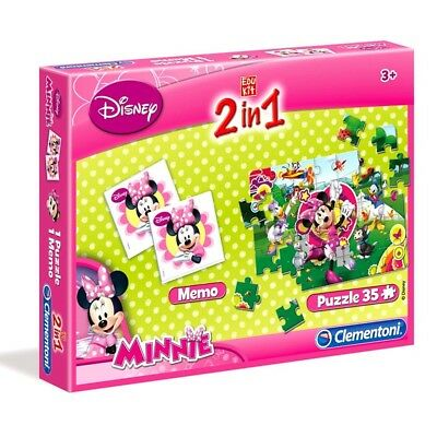 Minnie Maus - 2 in 1 Kinder Puzzle & Memo Spiel Mouse