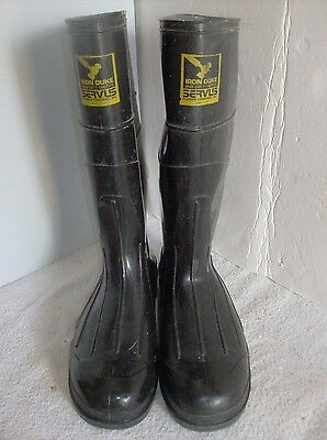 Servus Iron Duke Steel Toe Safety Rubber Boots  Men's Size 10 Made in USA