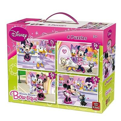 Minnie Maus - Puzzle Box 4 in 1 Mouse & Friends - 12, 16, 20 und 24 Teile