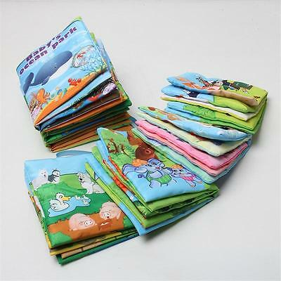 Kid Baby Cute Soft Intelligence Development Cloth Cognize Book Educational Toy {