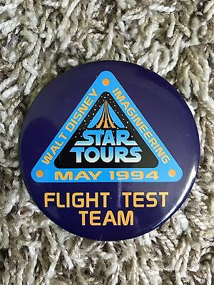 Disney Star Tours Opening Flight Team Rare Cast Member Pin Button Ships Quick!