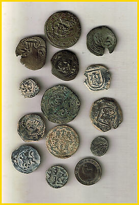 LOT 12 SPANISH PIRATE TREASURE COINS  (a)