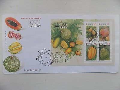 First Day Cover Singapore Local Fruits 1993