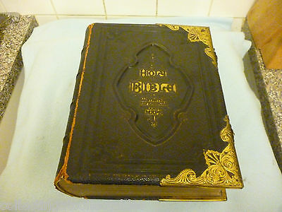 1800s National Comprehensive Family Bible Rev John Eadie Northern Fine Art Co