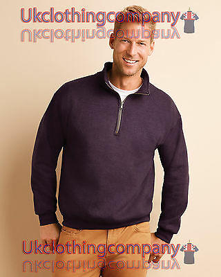 Gildan Heavy Blend™ Adult Vintage Cadet Collar Sweatshirt-1/4 neck zip-S to 3XL