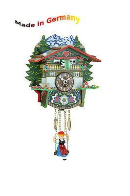 Black Forest Kuckulino Swing Clock, Cuckoo Quartz Movement Made in Germany Gift