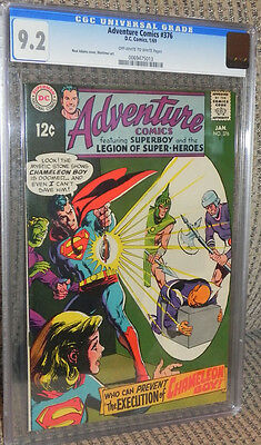 Adventure #376 CGC 9.2 Near Mint- Superboy Legion of Super-Heroes/LSH