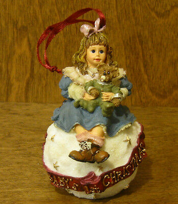 Boyds Dollstone Ornament #25857 AMY & SAM...BABY'S FIRST XMAS From Retail Shop