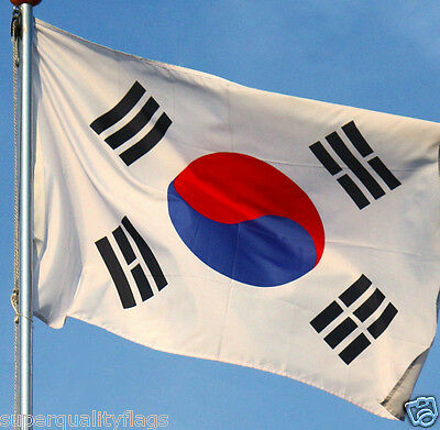 SOUTH KOREA KOREAN FLAG WITH BRASS GROMMETS NEW 3x5 ft