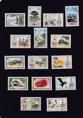 Anguilla 1972 Scenery,birds,flowers, Pictorial Set To $5 Sg.130-144 Fine Used