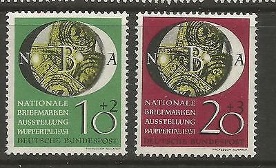 WEST GERMANY 1951 NATIONAL STAMP EXHIBITION  Mi No 141-142 (2) MNH**