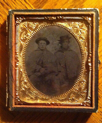 Confederate Soldiers- Civil War Tintype in Original box- missing Front Cover