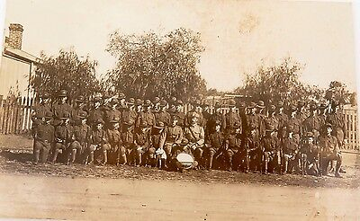 SUPER RARE EARLY 1900's PERTH W/A A.I.F. CADET GROUP REAL PHOTO POSTCARD