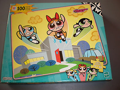 Vintage Powerpuff Girls Puzzle Milton Bradley 100 Pc Retro Power Puff Sealed NOS