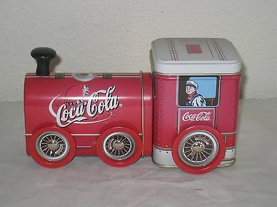 Vintage Coca Cola Train Engine Shaped Tin