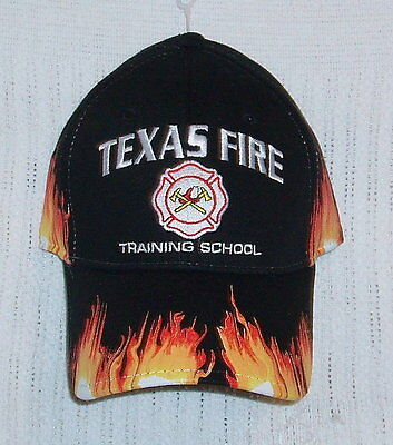 Texas Fire Training School Hat Cap Flames TFTS TEEX FireFighter New with tags