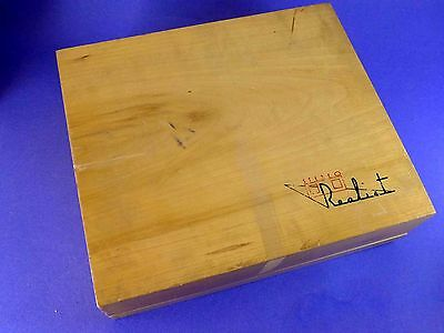 Wooden stereo viewer storage case with room for slides