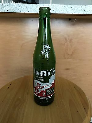 Vintage 1965 Mountain Dew 10 oz Glass Bottle Hillbilly- Bottled by Jack and Lois