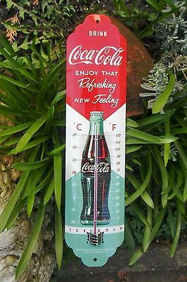 Coca Cola THERMOMETER - New Feeling - Retro - Licensed Product ! Sealed in Box