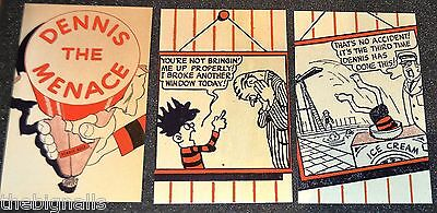 3 Dennis the Menace  POSTCARDS  (b)  art by David Law new