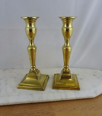 Small Pair of Vintage Brass Candlestick Candle Holders