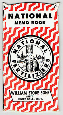 National Pocket Memo Book - William Stone Sones Ingersoll, Ontario