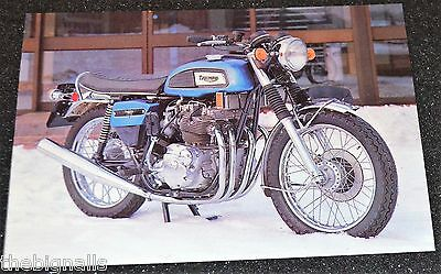 Motorbike Postcard 1973 TRIUMPH PROTOTYPE The Quadrant new