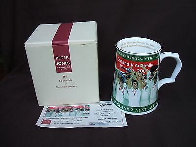Peter Jones Wakefield Aynsley England Ashes Victory Ceramic Tankard + Box 2005