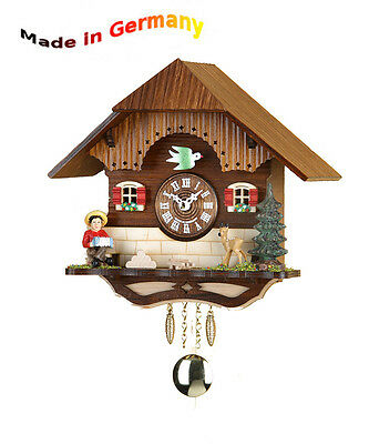 Kuckulino Pendulum Clock, Black Forest Cuckoo, Made in Germany, Gift Idea