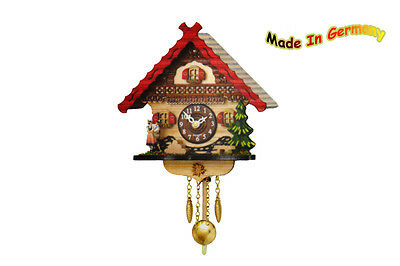BLACK FOREST Kuckulino Swing Clock, Westminster Chimes, Cuckoo, Heart Couples