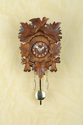 Kuckulino Pendulum Clock with Cuckoo Wood Dial Made in Germany 2015PQ