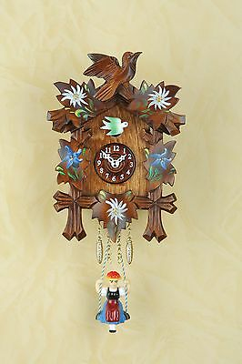 Kuckulino Swing Clock with Cuckoo Black Forest Clock Made in Germany 2010SQ