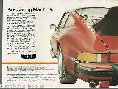 1980 PORSCHE 911 advertisement, British advert Porsche 911