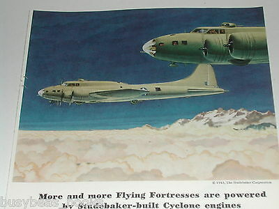 1943 Studebaker advertisement, Flying Fortress, WWII, Cyclone engine