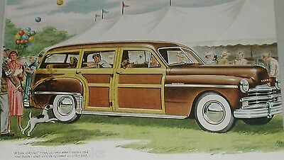 1950 Plymouth ad, Plymouth Woody Station Wagon, circus