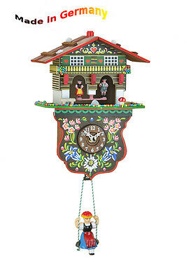 Black Forest Kuckulino Swing Clock, Cuckoo, Weather-House, Made in Germany